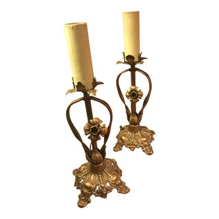 1920s Victorian Vanity Lamps - a Pair For Sale
