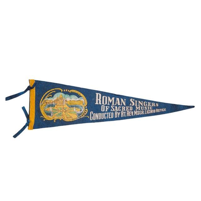 Roman Singers Felt Flag For Sale - Image 5 of 5