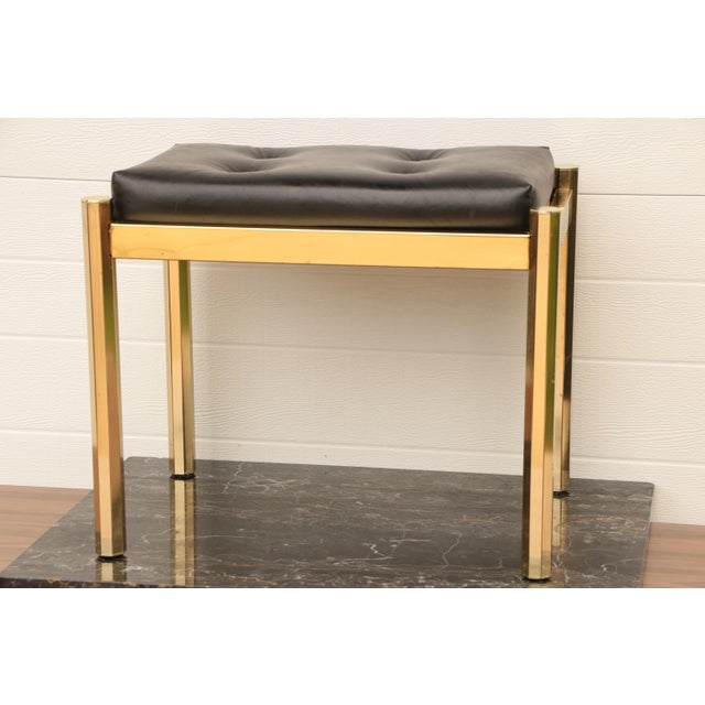 Black Koch Originals Vanity Stool in Gold and Black For Sale - Image 8 of 8
