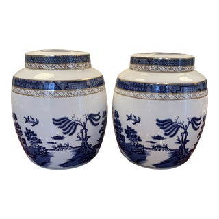 "Royal Doulton ""Real Old Willow"" Ginger Jars - a Pair For Sale"