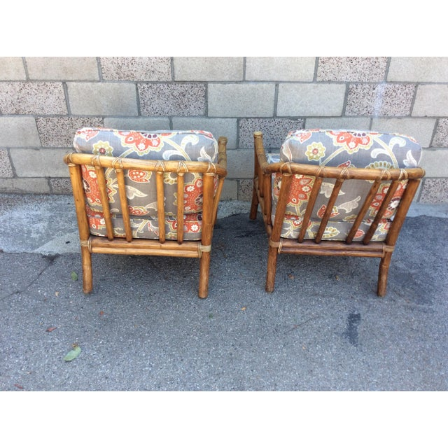 Traditional Vintage McGuire Chairs- A Pair For Sale - Image 3 of 11