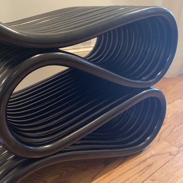 Frank Gehry Inspired Rattan Chair For Sale In Atlanta - Image 6 of 12