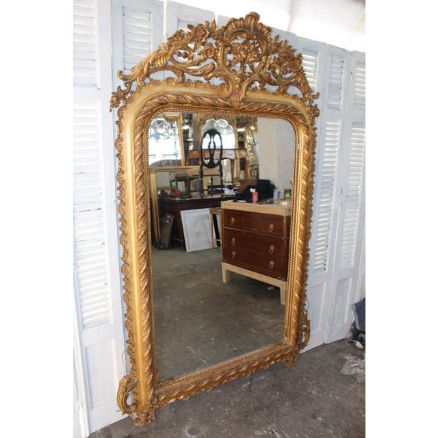 French Provincial 18th Century Antique French Louis Philippe Mirror For Sale - Image 3 of 8