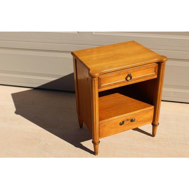 Danish Modern 1950s Danish Modern j.b. Van Sciver Co. Nightstand Side Table For Sale - Image 3 of 13