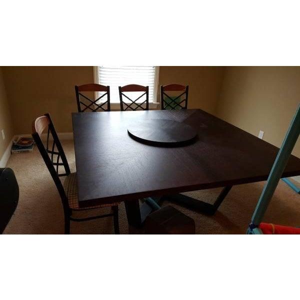 B & B Italia Black Oak Dining Table - Image 4 of 8