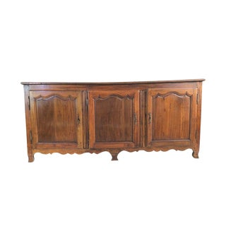 18th Century French Country Fruitwood Buffet Du Corps Sideboard For Sale
