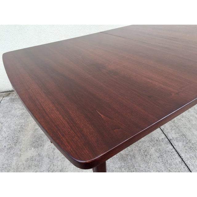 Mid-Century Expandable Walnut Dining Table - Image 7 of 11