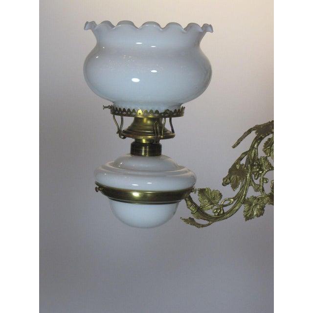 Victorian Oil Henry Hooper Three Light Chandelier For Sale - Image 4 of 8