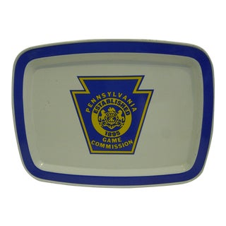 "1980 Vintage ""Pennsylvania Game Commission"" Serving Tray"