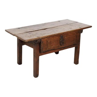 18th Century Solid Walnut Spanish Side Table For Sale