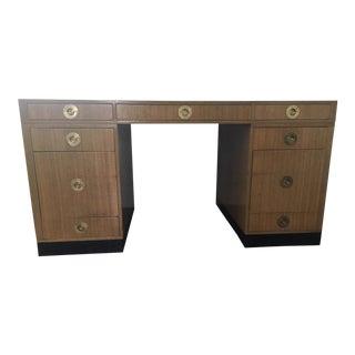 1950s Mid Century Modern Edward Wormley Partner Desk For Sale