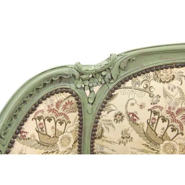 Mid 20th Century French Rococo Style Settee For Sale - Image 5 of 9