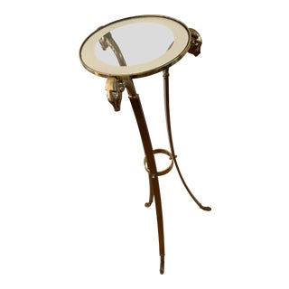 Mid Century Modern 70s Italian Brass Plant Stand For Sale