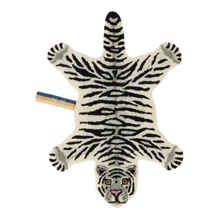 Doing Goods Snowy Tiger Rug Small For Sale