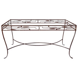 Vintage Wrought Iron Art Deco Table Attributed to Salterini For Sale