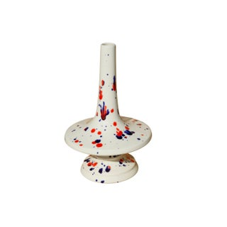 1976 Red, White & Blue Ceramic Candlesticks, a Pair Preview