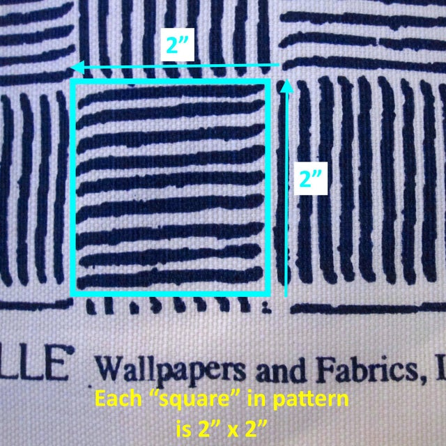 "Alan Campbell for Quadrille's ""Textura I"" in China Seas French Blue Fabric - 8 Yards For Sale - Image 5 of 5"