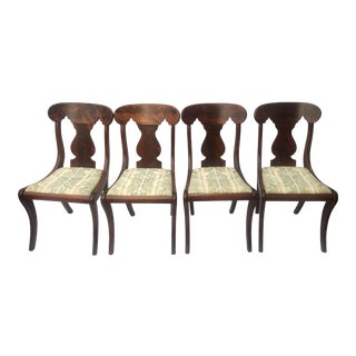 1860s Vintage American Empire Side Chairs - Set of 4 For Sale
