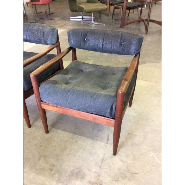 Adrian Pearsall for Craft Lounge Chairs & Ottoman For Sale - Image 10 of 11