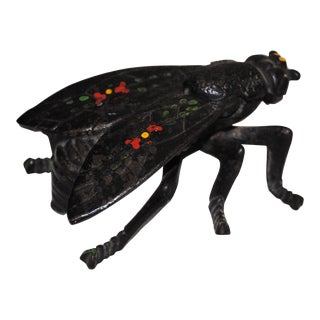 Mid Century Cast Iron Fly Ashtray For Sale