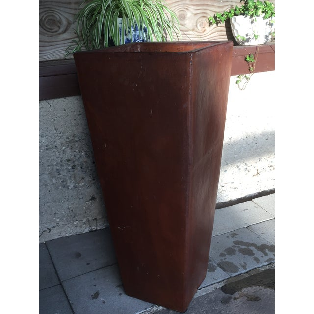 2000 - 2009 Contemporary Planter Cement Outdoor Planter For Sale - Image 5 of 11