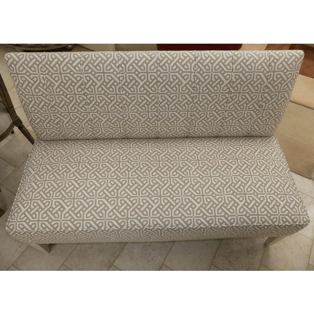 Tan Hickory Chair Upholstered Dining Bench . Banquette . Settee . Loveseat For Sale - Image 8 of 11