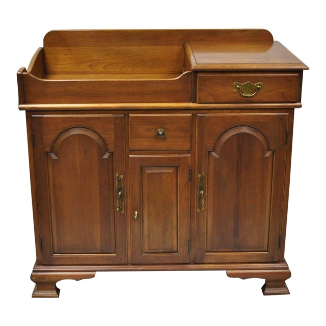 Pennsylvania House Solid Cherry Wood Colonial Drysink Dry Sink Cabinet Server For Sale