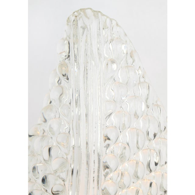 Murano Glass Leaf and Brass Wall Sconces For Sale - Image 5 of 9