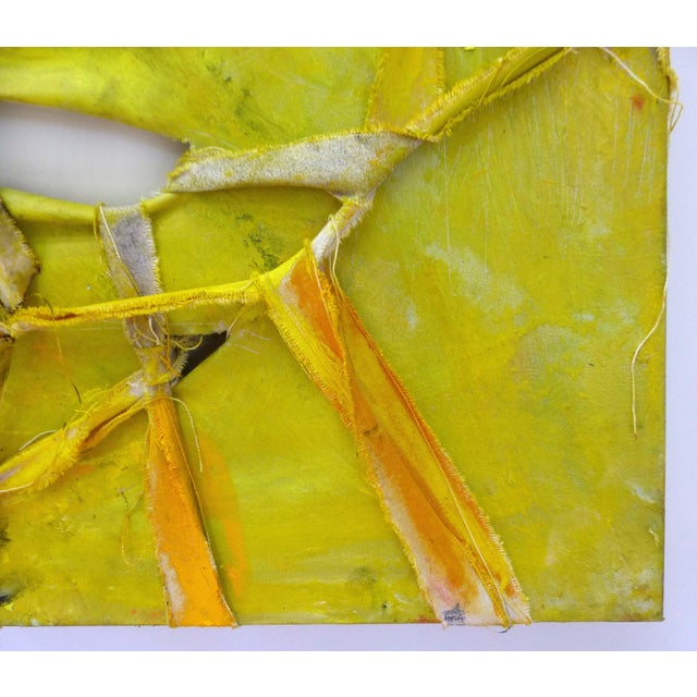 """Alfredo Ulloa """"Pierre (Yellow #1)"""" Abstract Painting - Image 4 of 8"""