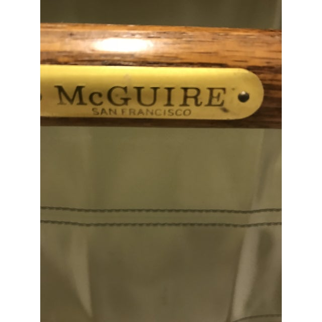 McGuire McGuire Director Folding Chairs - Pair For Sale - Image 4 of 5