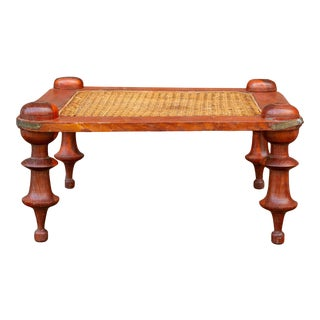Ceylonese Dutch Colonial Cane Stool For Sale
