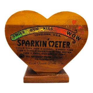 """Vintage Wooden """"sparkin' Meter"""" Piggy Bank For Sale"""