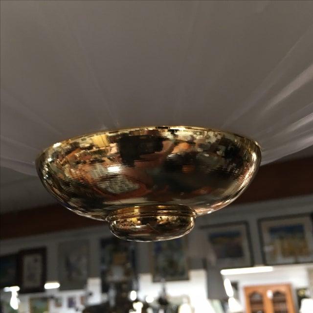 Polished Brass & Alabaster Chandelier - Image 7 of 10