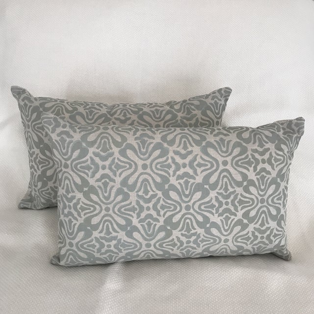 """Feather Galbraith & Paul """"Tulip"""" Pillows - A Pair For Sale - Image 7 of 7"""