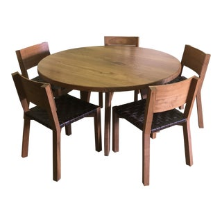 De La Espada Solid Walnut Dining Set For Sale
