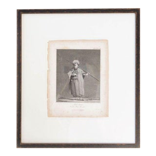 19th C Framed Engraving, Shekh For Sale