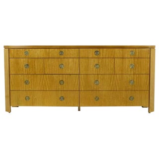 Charles Pfister For Baker Primavera Parquetry Inlaid Ten-Drawer Dresser For Sale
