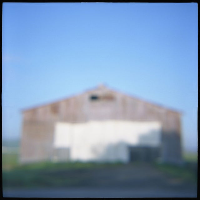 """Barn,"" film toy camera image from the series ""Remembered Landscapes."" Sonoma, Ca. 10x10 image printed on 11x14 archival..."