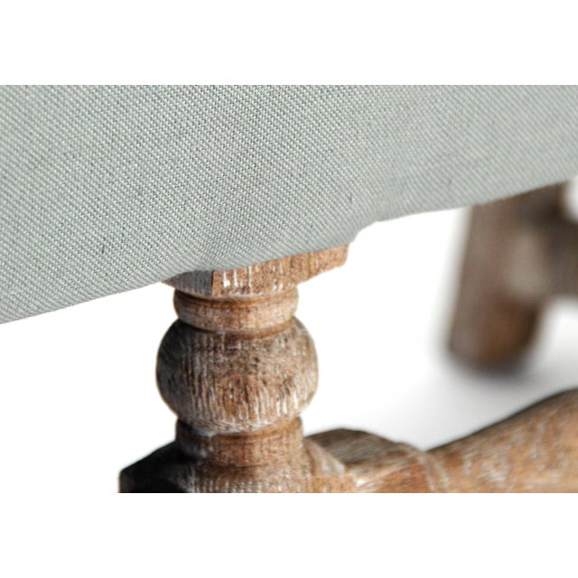 Leyland Bench in Gray For Sale In Atlanta - Image 6 of 7