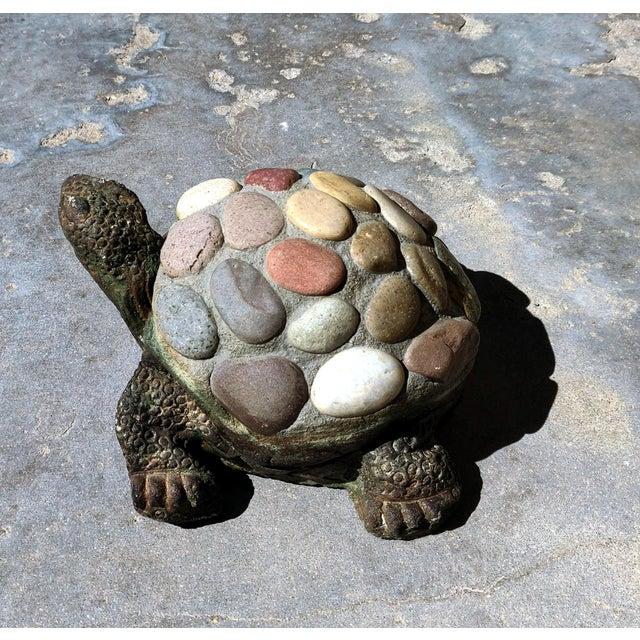 1990s 1990s Vintage Organic Rustic Figural Desert Tortoise Statue For Sale - Image 5 of 7