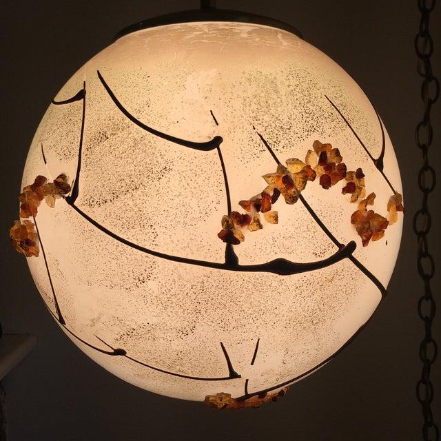 Mid-Century Globe Swag Lamp - Image 6 of 11