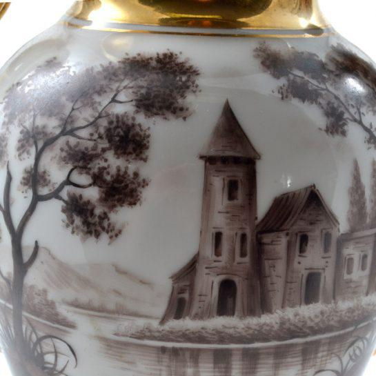 19th Century Antique French Porcelain Vases-a Pair For Sale - Image 12 of 13