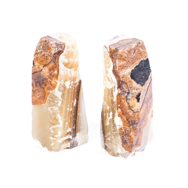 Solid Alabaster Stone Bookends - Pair - Image 1 of 4
