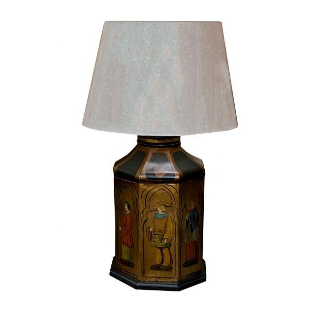 Antique Tole Lamps - a Pair For Sale - Image 4 of 8