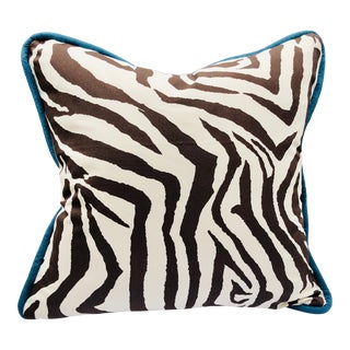 "Tiger Print, Cotton Canvas Floor Cushion, 30"" For Sale"