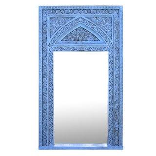 Architectural Turquoise Mirror For Sale