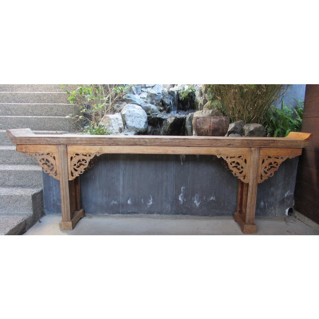 Teak Pagoda Style Console Table - Image 2 of 8