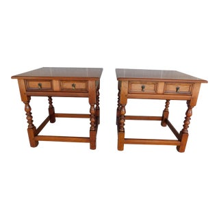 L & J G Stickley Cherry Valley 1 Drawer End Tables - a Pair For Sale
