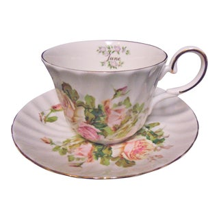 Staffordshire Collection June Cup & Saucer - A Pair