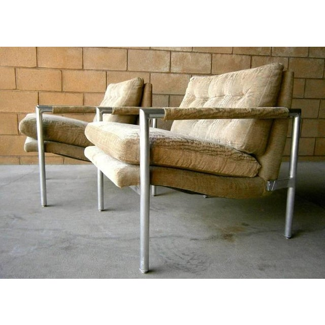 1960s Aluminum Club Chairs - A Pair - Image 3 of 7